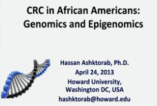 RCMI Spotlight Presents – Howard University – CRC in African Americans: Genomics, Epigenomics & Microbiomics