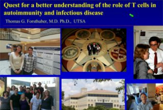 RCMI Spotlight Presents – University of Texas at San Antonio – Quest for a better understanding of the role of T cells…